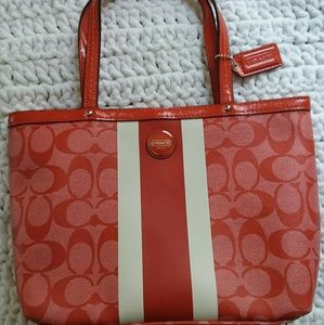 Coach handbag with matching coin purse